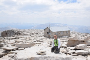 Mt. Whitney Trail Backpacking to the summit-RenOnSummit2015June26